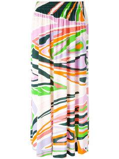 плиссированная юбка с абстрактным принтом Emilio Pucci
