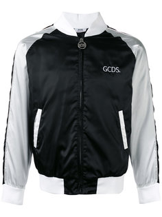 stripe panel bomber jacket Gcds