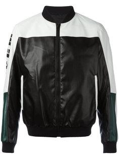 куртка-бомбер в стиле колор-блок MSGM