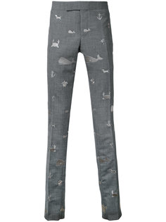 embroidered animals chinos  Thom Browne