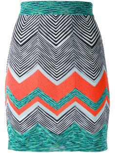 вязаная юбка с зигзагообразным узором Missoni