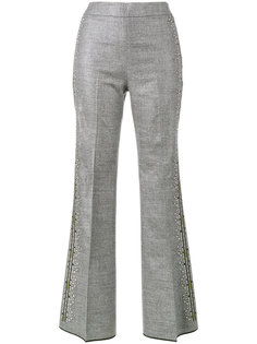 брюки с цветочной вышивкой Giambattista Valli
