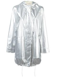 metallic parka coat Paco Rabanne