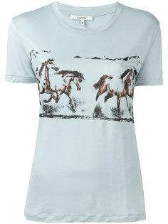 футболка с принтом лошадей Ganni
