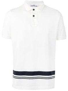 рубашка-поло с принтом в виде полосы Stone Island