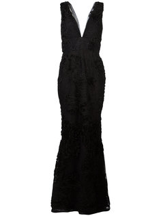 embroidered plunge gown  Marchesa Notte