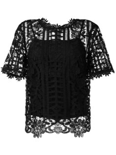 floral lattice lace top Blugirl