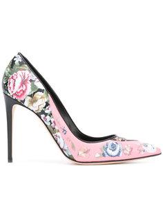 туфли с цветочным принтом Alexander McQueen