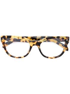 очки с леопардовым узором Prada Eyewear