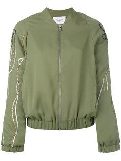 floral sequin sleeve bomber jacket Blugirl