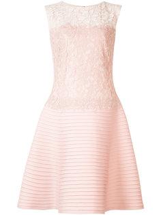 приталенное платье с кружевной панелью Tadashi Shoji