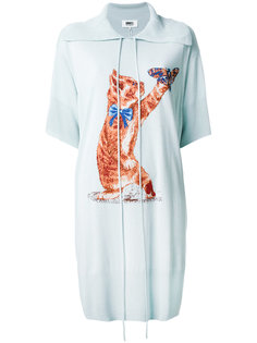 платье с принтом кошек Mm6 Maison Margiela