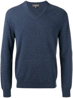 пуловер с V-образным вырезом N.Peal