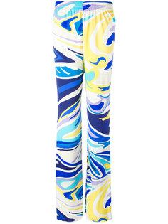 широкие брюки с абстрактным принтом Emilio Pucci