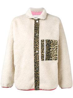 куртка с леопардовыми панелями Sandy Liang