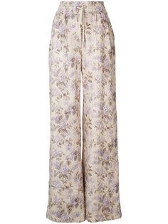 широкие брюки с цветочным принтом Zimmermann