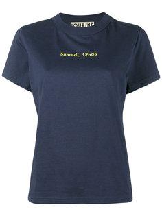 футболка с вышивкой Samedi, 12h05 Jour/Né