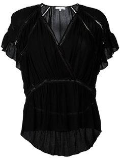 блузка с V-образным вырезом и рюшами Iro