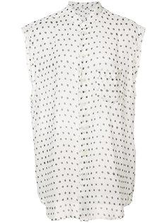 прозрачная блузка в горошек Saint Laurent