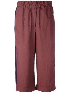 укороченные брюки клеш  Odeeh