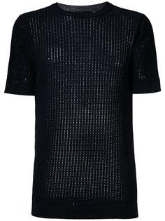 ladder stitch rib knit top Diesel Black Gold