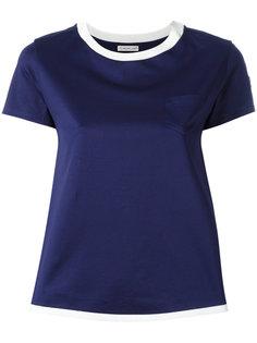 футболка с контрастной отделкой Moncler