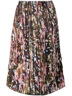 юбка миди с абстрактным узором Marni