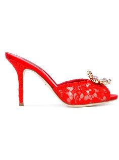 декорированные мюли Dolce & Gabbana