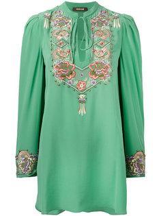 блузка с вышивкой Roberto Cavalli