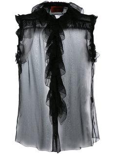 прозрачная блузка с оборками  Missoni Vintage