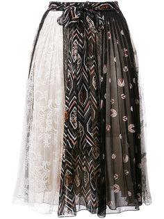 плиссированная юбка с принтом Giambattista Valli
