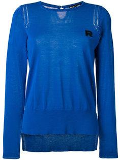 вязаный свитер с вышитым логотипом Rochas