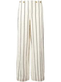 широкие полосатые брюки Polo Ralph Lauren