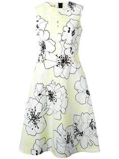 платье клеш с цветочным мотивом Marni