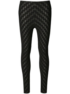 stepped pattern leggings Pleats Please By Issey Miyake