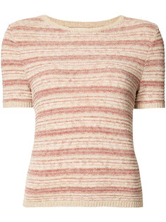 striped shortsleeved knit top  Alice+Olivia