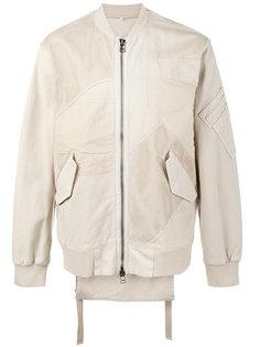 куртка-бомбер в стиле пэчворк Helmut Lang