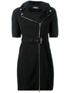 zipped shoulders belted dress Jeremy Scott