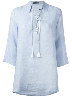 блузка с завязкой на горловине Roberto Collina