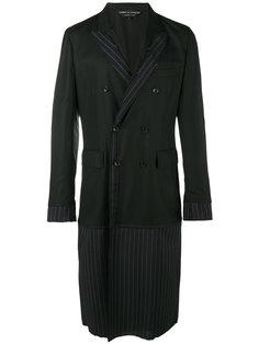 полосатое пальто Comme Des Garçons Homme Plus
