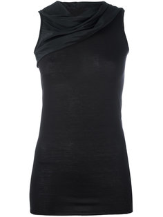 draped sleeveless top Rick Owens Lilies