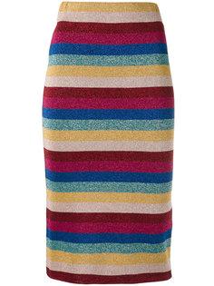 полосатая юбка с люрексом Laneus