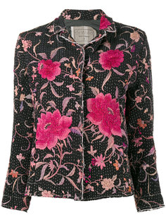 куртка Dark Haya с цветочной вышивкой By Walid