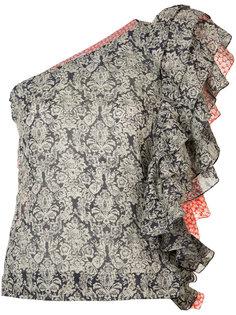 ruffled one-shoulder floral top Rosie Assoulin