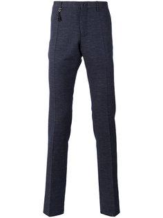 брюки скинни с заниженной талией Incotex