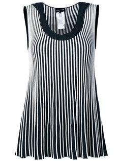полосатая блузка без рукавов Emporio Armani