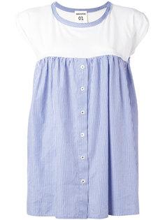 блузка в полоску со складками  Semicouture