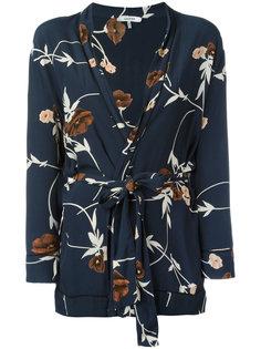 пиджак с запахом и цветочным принтом Ganni