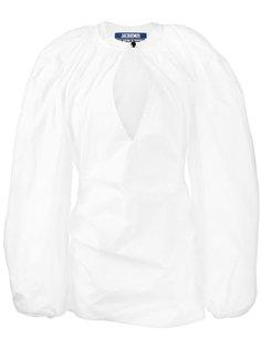 короткое платье с пышными рукавами Jacquemus