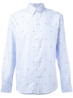 рубашка с вышивкой Maison Kitsuné